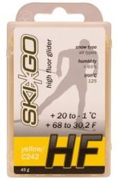 Парафин SkiGo HF желтый +20°C/-1°C 45г. Арт. 63014
