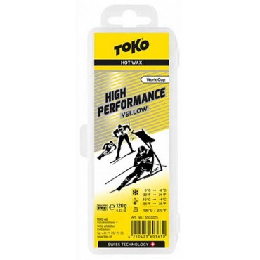 Парафин Toko высокофтористый HP yellow 120 g 5503025