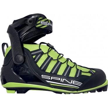 Ботинки для лыжероллеров SPINE NNN Skiroll Skate (17) (черно/салатовый)