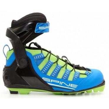 Ботинки для лыжероллеров SPINE NNN Skiroll Skate (17) (синий/черный/салатовый)