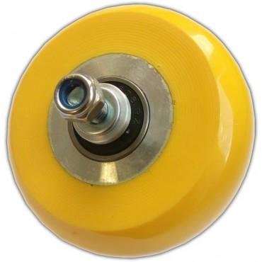 Ролик коньковый полиуретан 71х30 мм желтый