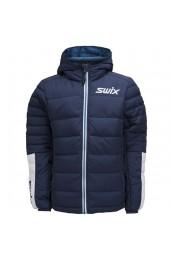 Куртка подростковая Swix Dynamic Jr пуховая синяя Арт. 13152