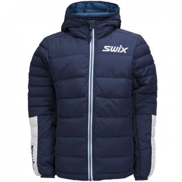 Куртка подростковая Swix Dynamic Jr пуховая синяя