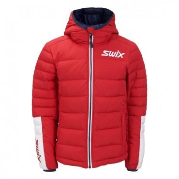 Куртка подростковая Swix Dynamic Jr пуховая красная