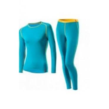 Термобелье Loffler (жен) голуб\желт.