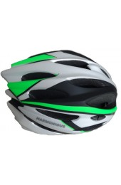 Шлем вело-роллерный PW-933-11 (silver/black/green)