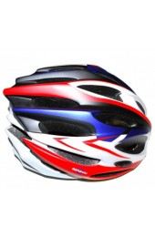 Шлем вело-роллерный PW-933-12 (red/white/blue)