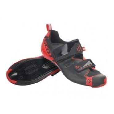Велообувь SCOTT Road Tri Pro (black/neon red gloss)